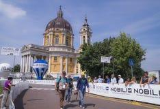 Campeonato italiano de ciclagem 2015 Fotografia de Stock Royalty Free
