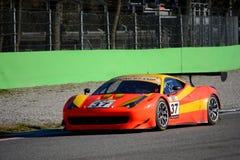 """Campeonato italiano 2015 de GT del †de Ferrari 458 """" Imagen de archivo libre de regalías"""