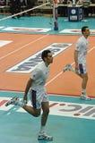 Campeonato italiano: Salva de Trentino contra Macerata Imagens de Stock Royalty Free