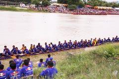 Campeonato largo de la regata de /Traditional de los barcos largos tailandeses tradicionales Fotos de archivo libres de regalías