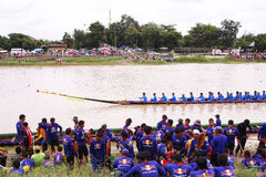 Campeonato largo de la regata de /Traditional de los barcos largos tailandeses tradicionales Imagenes de archivo
