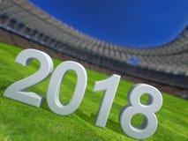 Campeonato mundial 2018 Ilustração Royalty Free