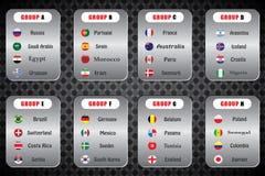 Campeonato mundial Bandeiras do vetor do país 2018 em Rússia ilustração do vetor