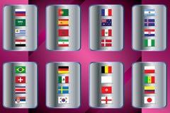 Campeonato mundial Bandeiras do vetor do país 2018 em Rússia Imagem de Stock
