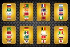 Campeonato mundial Bandeiras do vetor do país 2018 em Rússia Foto de Stock