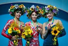 Campeonato mundial da ginástica rítmica Fotografia de Stock Royalty Free