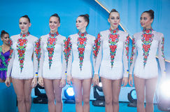 Campeonato mundial da ginástica rítmica Imagem de Stock Royalty Free