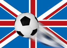 Campeonato mundial do futebol e de bandeira de Inglaterra fundo Fotografia de Stock