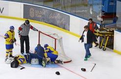 Campeonato mundial 2018 do hóquei em gelo U18 Div 1, Kyiv, Ucrânia Imagem de Stock
