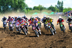 Campeonato mundial do motocross fotografia de stock royalty free