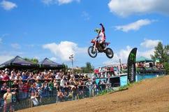 Campeonato mundial do motocross Fotografia de Stock