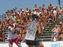 Campeonato mundial 2018 do tênis da praia de ITF - semifinal fotografia de stock royalty free