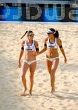 Campeonato mundial do voleibol de praia 2011 - Roma, Itália Imagem de Stock
