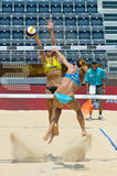 Campeonato mundial do voleibol de praia 2011 - Roma, Itália Fotografia de Stock