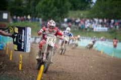 Campeonato MX3 do mundo do motocross da FIM Senkvice 2011 Fotos de Stock