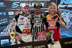 Campeonato MX3 do mundo do motocross da FIM Senkvice 2011 Fotos de Stock Royalty Free