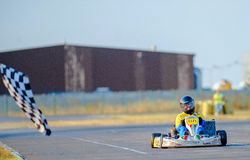 Campeonato nacional de Karting Imagens de Stock Royalty Free