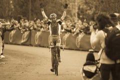 campeonato nacional de la Ciclo-cruz - hombres de la élite Imagen de archivo libre de regalías