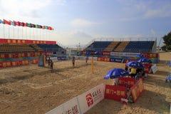 campeonato nacional 2014 del voleibol de playa de China Fotos de archivo libres de regalías