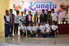 Campeonato nacional do kungfu fotografia de stock