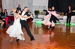 Campeonato polaco en la danza de salón de baile Imágenes de archivo libres de regalías