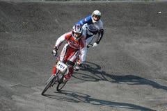 Campeonato polaco que compite con de BMX Fotos de archivo