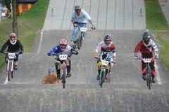 Campeonato polaco que compite con de BMX Imagenes de archivo