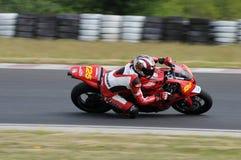Campeonato que compite con de la moto Imagen de archivo libre de regalías