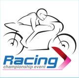 Campeonato que compite con de la motocicleta Foto de archivo libre de regalías