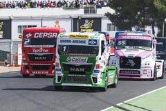 Campeonato que compite con del camión de 2014 europeos imagen de archivo libre de regalías
