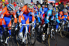 Campeonato transversal ciclo 2010 do mundo imagem de stock
