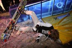 Campeonato ucraniano da snowboarding Imagens de Stock Royalty Free