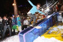Campeonato ucraniano da snowboarding Fotografia de Stock