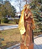 Campeonato vivo das estátuas. Evpatoria, Ucrânia Fotografia de Stock Royalty Free