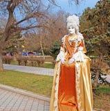 Campeonato vivo de las estatuas. Evpatoria, Ucrania Imagenes de archivo