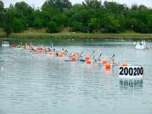 Campeonatos 2008 do europeu de Flatwater Fotografia de Stock