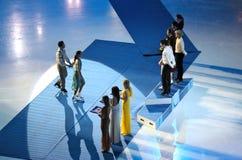 Campeonatos 2010 el mundo de ISU del patinaje artístico Fotografía de archivo libre de regalías