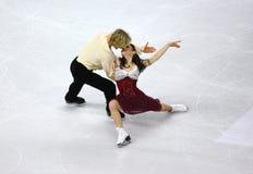 Campeonatos 2010 el mundo de ISU del patinaje artístico Imágenes de archivo libres de regalías