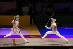 Campeonatos 2012 de cercado del mundo en Kyiv Foto de archivo libre de regalías