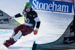 Campeonatos 2013, Stoneham del mundo de la snowboard de FIS fotos de archivo libres de regalías