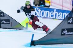 Campeonatos 2013, Stoneham del mundo de la snowboard de FIS fotografía de archivo