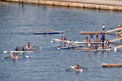 Campeonatos costeros que reman Salónica del mundo Imagen de archivo libre de regalías