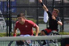 CAMPEONATOS da CADEIRA DE RODAS de USTA 2018/de Dwight Davis Tennis Center fotos de stock