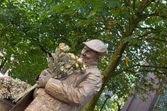 Campeonatos de Living Statues World del florista imagenes de archivo