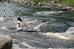 Campeonatos de Whitewater do canadense Fotografia de Stock