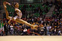 Campeonatos del italiano de la gimnasia rítmica imagen de archivo