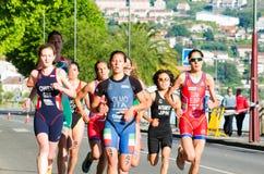 Campeonatos del mundo del Duathlon fotos de archivo libres de regalías