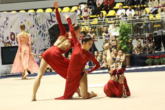 Campeonatos do italiano da ginástica rítmica foto de stock royalty free