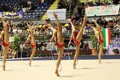Campeonatos do italiano da ginástica rítmica fotografia de stock