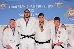 Campeonatos europeos 2013 del judo Imágenes de archivo libres de regalías